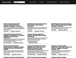 kerja-ngo.com screenshot