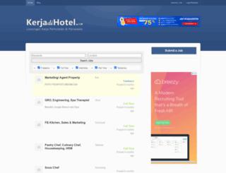 kerjadihotel.com screenshot