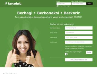 kerjadulu.com screenshot