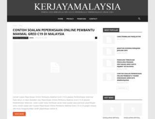 kerjayamalaysia.com screenshot