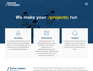 kernelconcepts.de screenshot