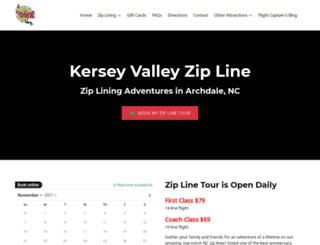 kerseyvalleyzipline.com screenshot
