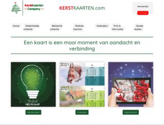 kerstkaarten.com screenshot