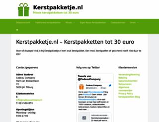 kerstpakketje.nl screenshot