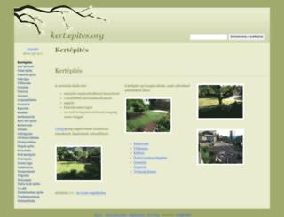 kert.epites.org screenshot