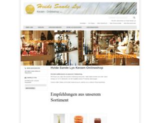 kerzen-onlineshop.com screenshot