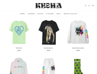 kesha.fanfire.com screenshot