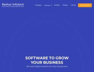 keshavinfotech.com screenshot