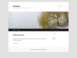 keshise.wordpress.com screenshot