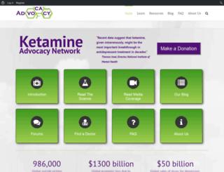 ketaminenetwork.org screenshot
