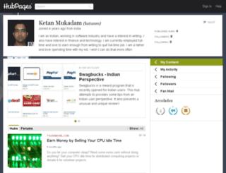 ketanm.hubpages.com screenshot