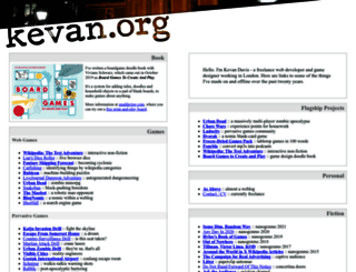 kevan.org screenshot