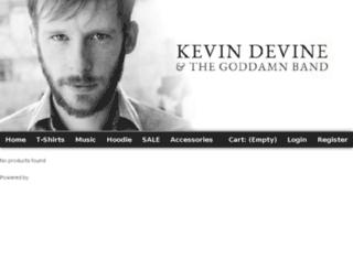 kevindevine.gomerch.com screenshot