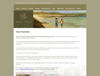 kevinfloodfineart.com screenshot