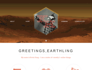 kevinhaag.com screenshot