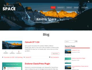 kevinsspace.ca screenshot