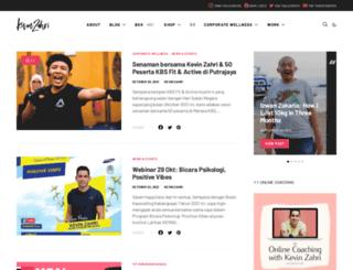 kevinzahri.com screenshot
