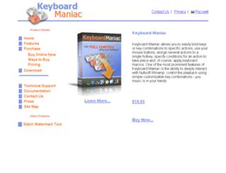 keyboardmaniac.com screenshot