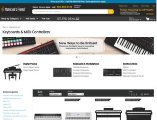 keyboards-midi.musiciansfriend.com screenshot