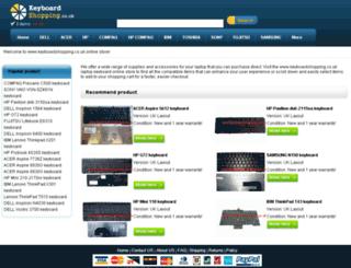 keyboardshopping.co.uk screenshot
