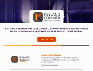 keylandpolymer.com screenshot