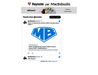 keynote.macbidouille.com screenshot