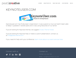 keynoteuser.com screenshot