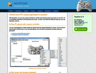 keysticks.net screenshot