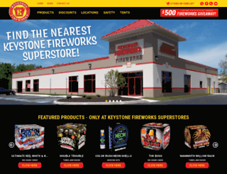 keystonefireworks.com screenshot