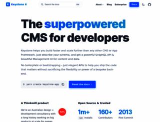 keystonejs.com screenshot