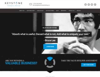 keystonemarketing.ca screenshot