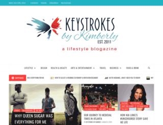 keystrokesbykimberly.com screenshot