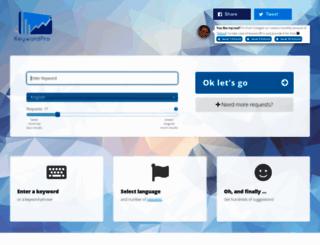 keywordpro.net screenshot