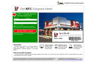 kfc.fastfoodsaver.com screenshot