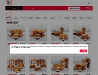 kfcdelivery.com.ph screenshot