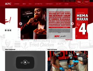 kfcindonesia.com screenshot