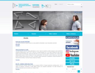 kfi.zcu.cz screenshot