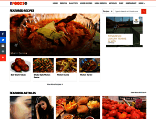 kfoods.com screenshot