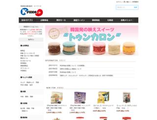 kfoods.jp screenshot