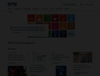 kfw-entwicklungsbank.de screenshot