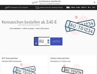 kfz-kennzeichen-24.de screenshot