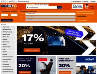 kfz-teile24.de screenshot