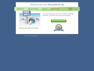 kfzundrecht.de screenshot
