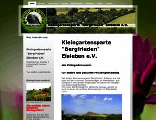 kgv-bergfrieden.net screenshot