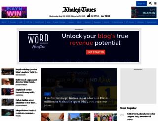 khaleejtimes.com screenshot