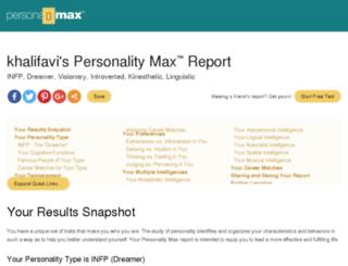 khalifavi.mypersonality.info screenshot
