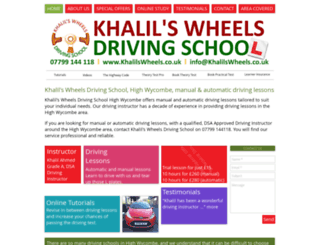 khalilswheels.co.uk screenshot