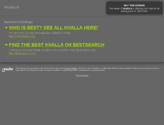 khalla.it screenshot