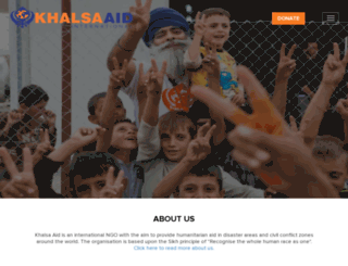 khalsaaid.org screenshot