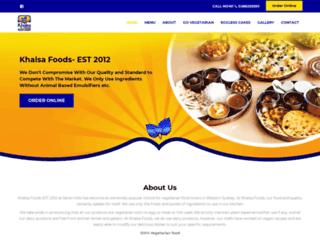 khalsafoods.com screenshot